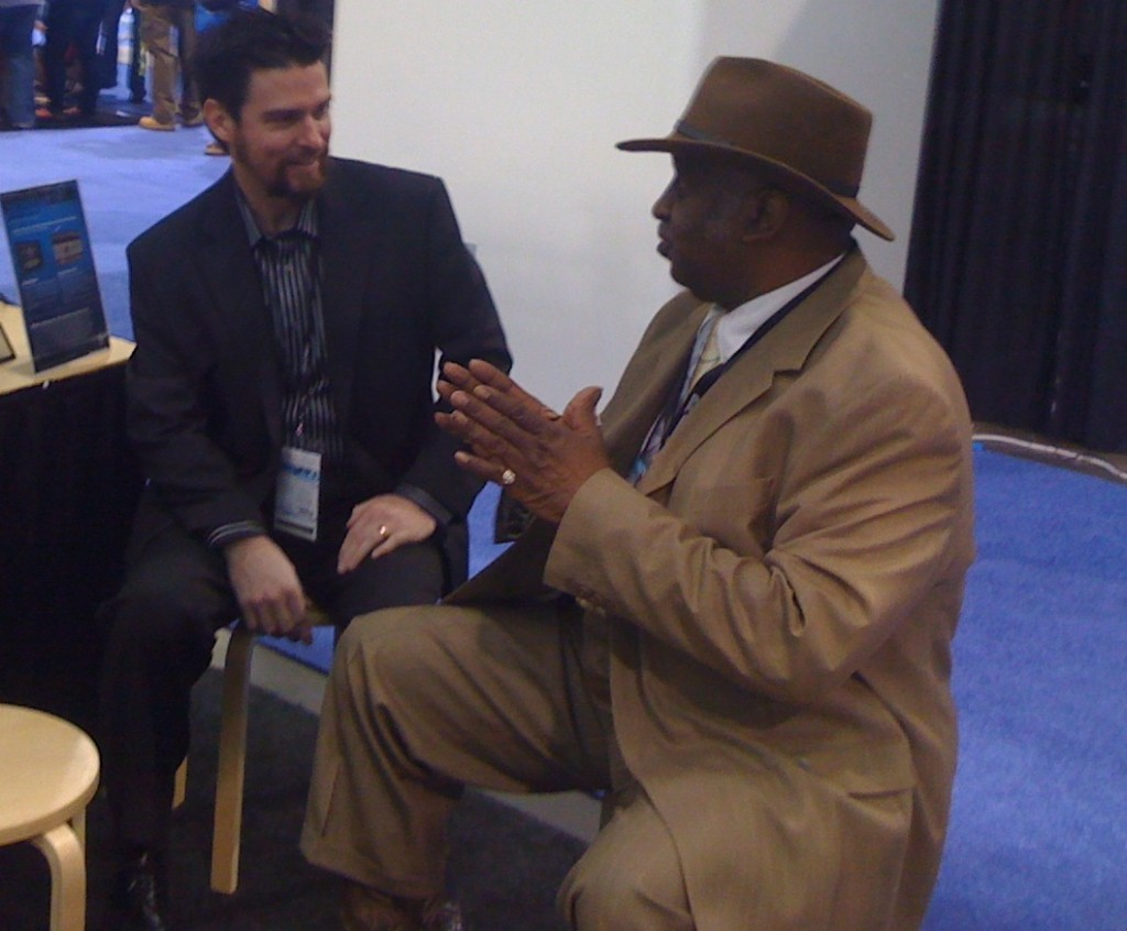 Cory Stück and Bernard Purdie at the NAMM show 2010